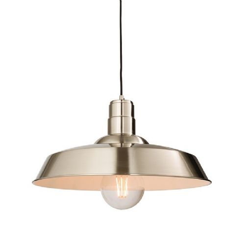 Gloss nickel plate Pendant Light 61282 by Endon